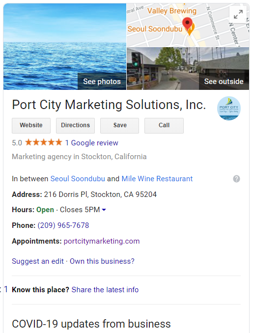 Picture of Port City Marketing Google My Business